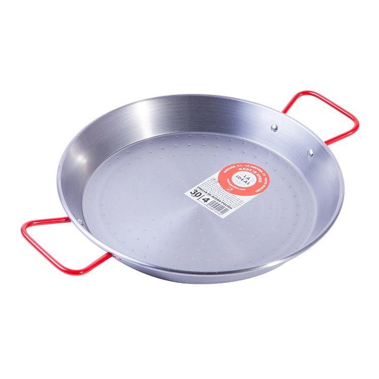 4 Portion Polished Steel Spanish Paella Pan
