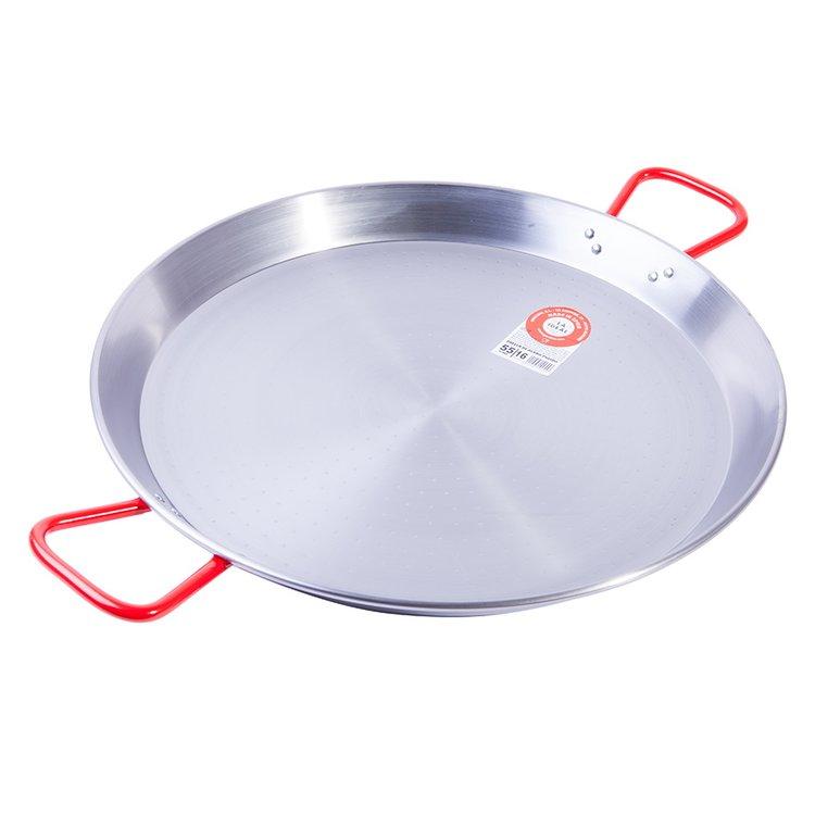 16-18 Portion Polished Steel Spanish Paella Pan
