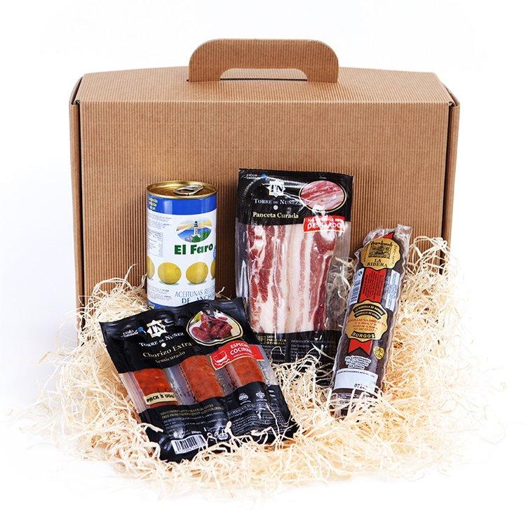 'De Barbacoa' Spanish Barbecue Gift Hamper Inc. Chorizo, Pancetta, Black Pudding & Olives
