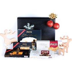 'De Navidad' Spanish Turrón Christmas Gift Hamper Inc. Chocolate, Nougat, Jijona & Alicante Turrón