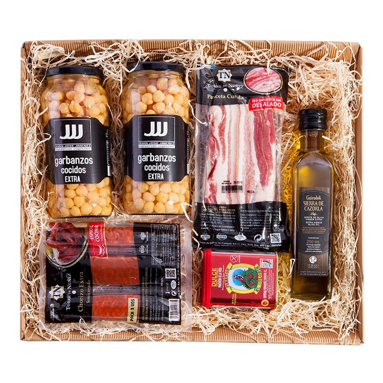 'El Cocido' Spanish Cooking Gift Set Inc. Chorizo, Pancetta, Paprika & Extra Virgin Olive Oil