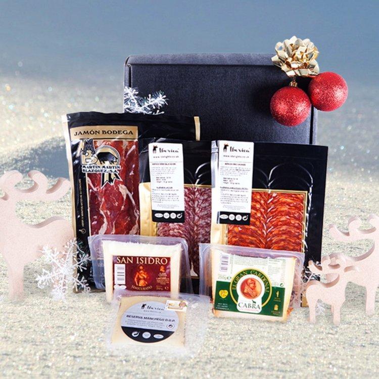 El Tablon' Spanish Meat & Cheese Gift Hamper Inc. Serrano Ham, Ibérico Chorizo & Manchego Cheese