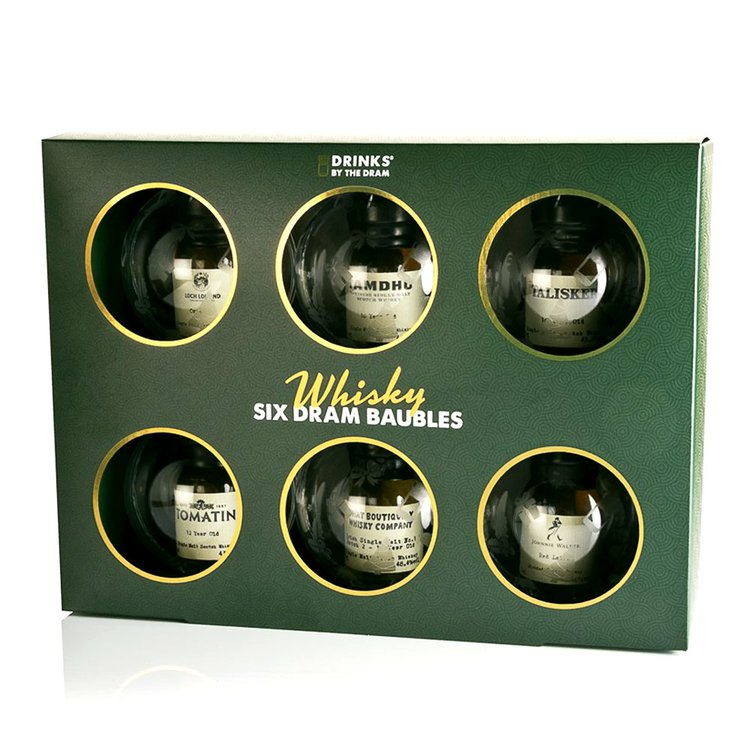 Box of 6 Whisky Baubles