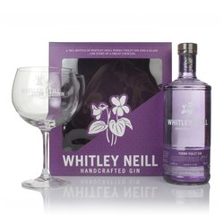 Parma Violet Gin Gift Box with Copa Balloon Gin Glass by Whitley Neill