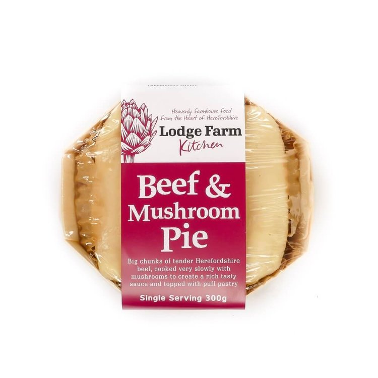 Herefordshire Beef & Mushroom Pie Single Serving 300G