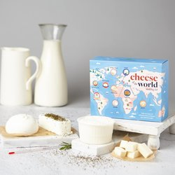 Cheese of the World Making Kit (Makes 10 Cheeses Inc. Halloumi, Ricotta & Mozzarella Cheese)