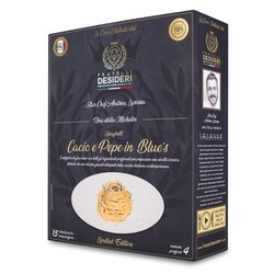 'Cacio e Pepe in Blues' Spaghetti & Blue Cheese Luxury Italian Meal Kit by Andrea Laross (Serves 4)