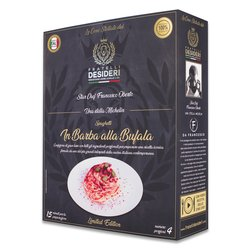 'Barba alla Bufala' Spaghetti with Buffalo Mozzarella Luxury Italian Meal Kit by Francesco Oberto (Serves 4)