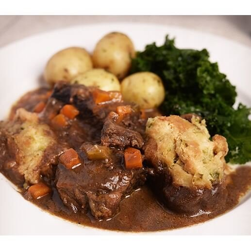 Beef Stew & Dumplings with Chocolate Stout Double Serving 700g