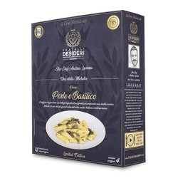 'Perle e Basilico' Penne with Pearls & Basil Pesto Luxury Italian Meal Kit by Andrea Larossa (Serves 4)