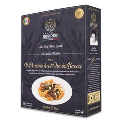 'Il Porcino Ha L'oro in Bocca' Red Gold Penne with Porcini Mushrooms & Saffron Luxury Italian Meal Kit by Marc Lantieri (Serves 4)