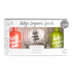 Gin & Glass Gift Set With Organic Pink Grapefruit & London Dry Gin Miniatures