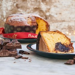 Chocolate Panettone With Chocolate Cream - Italian Christmas Cake 500g