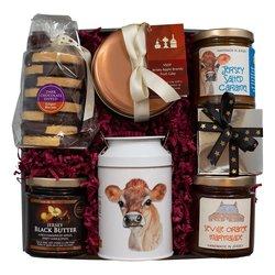 Jersey Black Butter 'Snow Drop' Christmas Gift Hamper Inc. Black Butter, Chocolate Truffles & Fudge