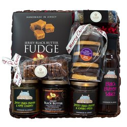 Jersey 'Black Butter Joy' Christmas Gift Hamper Inc. Fudge, Chutney & Black Butter Sauce
