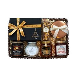 Jersey Black Butter 'Silent Night' Christmas Gift Hamper Inc. Black Butter, Chocolate Truffles & Sea Salt