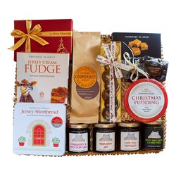 'Family Feast' Jersey Black Butter Christmas Gift Hamper Inc. Black Butter Fudge, Coffee & Biscuits