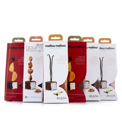 Ultimate Belgian Chocolate Coated Marshmallow Gift Set with Salted Caramel, Vanilla & Orange Marshmallows