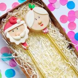 Santa Claus & Mrs Claus 'Cakesicle' Cake Pop Gift Box