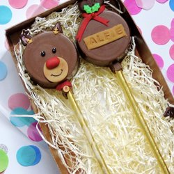 Reindeer 'Cakesicle' Personalised Cake Pop Gift Box