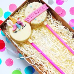 Unicorn 'Cakesicle' Personalised Cake Pop Gift Box