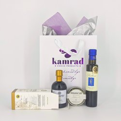 Extra Virgin Olive Oil, Oregano Salt & Gold Balsamic Vinegar of Modena 'Something Small' Gift Set