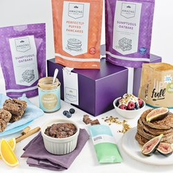 Vegan Baking Mix & Gin Christmas Gift Hamper Inc. Chocolate, Gin Liqueur & Nut Butters
