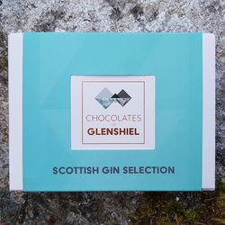 Mini Scottish Gin Infused Chocolate Gift Box Inc. Edinburgh, Misty Isle & Isle of Harris Gins (6 Pieces)