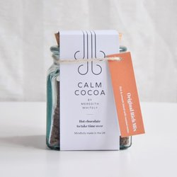'Calm Cocoa' Rich Hot Chocolate Flakes for Mindful Drinking - Original Rich Mix - Hot Chocolate Gift Jar