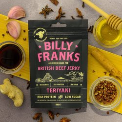 10 x Teriyaki Beef Jerky 30g Packs (Air Dried, Grass Fed)