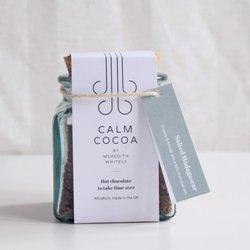 Salted Madagascar Hot Chocolate Drink Powder Gift Jar with Smoked Sea Salt