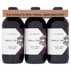 12 x Small Beer Craft Dark Lager 350ml 1% ABV