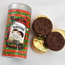 Vegan Marshmallow Filled 'Round Up' Chocolate Biscuit Gift Tin