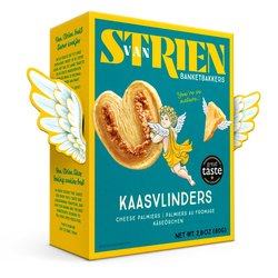 5 x Butter Cheese Palmiers 80g - Baked Puff Pastry Savoury Biscuits with Gouda Holland Cheese