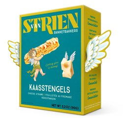 5 x Butter Cheese Straws - Baked Puff Pastry Savoury Biscuits with Emmental Cheese 90g