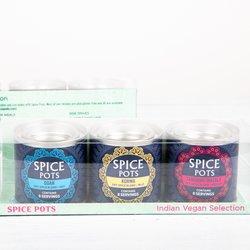 Vegan Curry Gift Box - Indian Spice Blend & Vegan Curry Recipes With Goan, Tandoori Masala & Korma Blends