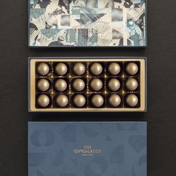 18 Milk Chocolate Salted Caramel Water Ganache Truffles Gift Box
