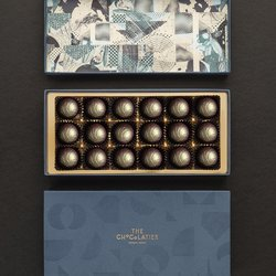 18 Dark Chocolate Salted Caramel Water Ganache Truffles Gift Box