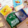 Retro Sweets Letter Box Gift Hamper With Chocolate, Organic Fruit Gums & Tropical Sweets