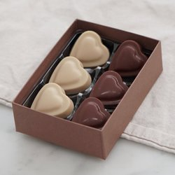 6 x Vegan Milk Chocolate & Cashew Nut Heart Shaped Truffle Gift Box