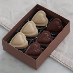 12 x Vegan Milk Chocolate & Cashew Nut Heart Shaped Truffle Gift Box