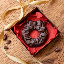 Vegan Dark Chocolate Wreath