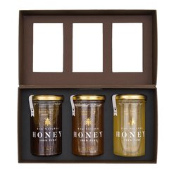 Gourmet Raw Natural Honey Gift Box with Oak, Spring & Heather Honey