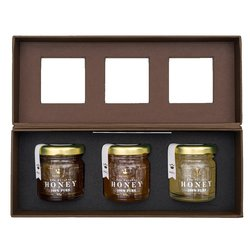 Luxury Raw Natural Honey Gift Box with Oak, Spring & Heather Honey