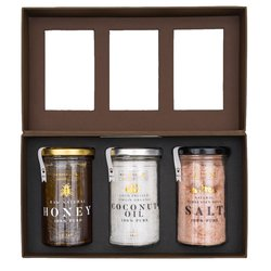 Grandiose Raw Honey, Himalayan Pink Salt & Coconut Oil Gift Box