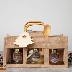Honey Gift Hamper With Hungarian Acacia, Honeydew & Lavender Honey Varieties