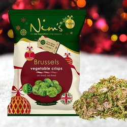 3 x Brussel Sprout Vegetable Crisps by Nim's 70g (Air-Dried)