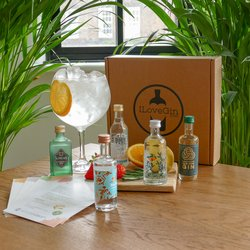 British Gin Tasting Set - 'UK Gin Tour' British Gin Miniatures Gift Set