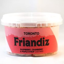 Fruit Custard - Raspberry, Cranberry & Maple Syrup Custard - 'Toronto' Dessert 280ml