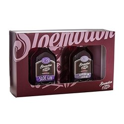 Sloe Gin Gift Set by Sloemotion Gin - Gift Set of Sloemotion Sloe Gin & Damson Gin Miniatures (2 x 5cl)